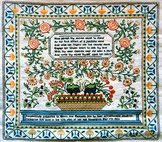 Antique Essamplaire Century Dutch, Needlework Books American English, Canadian and Italian Samplers Embroidery Sampler, Cross Stitch Embroidery, Embroidery Ideas, Cross Stitch Samplers, Cross Stitching, Renaissance Era, Needlework Shops, Little Stitch, Fiber Art