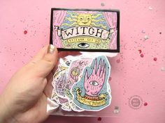 Anime Stickers, Cat Stickers, Ouija, Sticker Shop, Sticker Design, Wiccan, Planner Stickers, Kunst Shop, Illustration Example