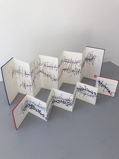 Abstract calligraphy on accordions books by Christophe Badani, painter. Accordian Book, Concertina Book, Shel Silverstein Books, Summer Camp Art, Book Libros, Homemade Books, Domino Art, Book Journal, Journals