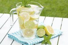 Homemade lemonade with lemons and limes