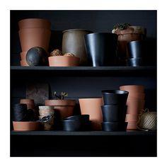 """SENAP Plant pot with saucer - 6 """" and 4"""" - IKEA"""