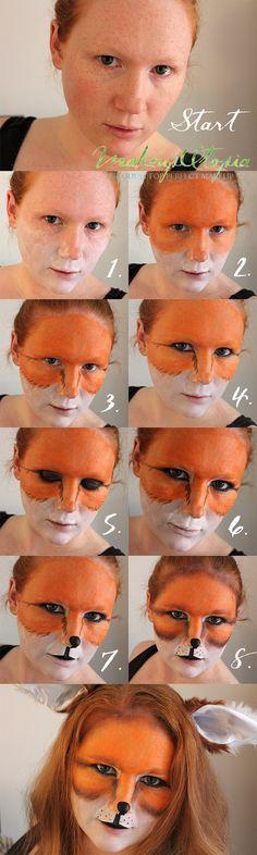 Makeup Utopia | What Does The Fox Say Makeup Tutorial | http://makeuputopia.com #halloween