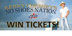 """8 DAYS 'til Kenny Chesney's """"No Shoes Nation Tour"""" stops in STL!!! Still nedd tickets? Enter to win a pair! #GetYourCountryOn"""