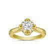 Engagement Ring with Side Stone 0.08 Carat Weight* - Forever Brilliant Center Stone, 0.50 Carat Weight*, Size 5 (mm).
