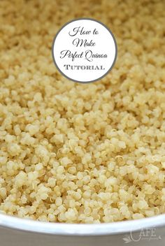 How to make perfect quinoa every time - never heavy or soggy!