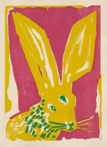 Bernard Lorjou Rabbit painting - I am excited to have recently discovered his work - such a wonderful use of color.