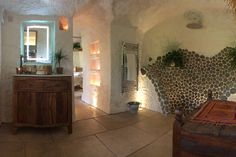 Check out this awesome listing on Airbnb: The Rockhouse Retreat,Grand Designs - Caves for Rent in Low Habberley