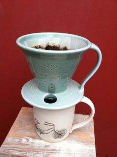 Pour over coffee dripper by 13fields on Etsy