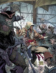 Todd McFarlane's Assassin's Creed: Black Flag Poster Art