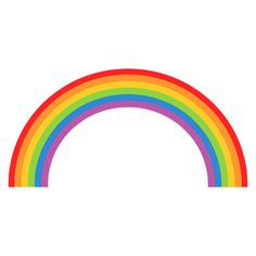Free Rainbow Clipart - Public Domain Rainbow clip art, images and... ❤ liked on Polyvore