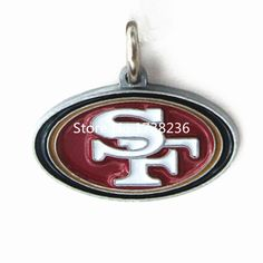 Diy Jewelry Accessories Enamel Alloy Metal San Francisco 49ERS Logo Charm