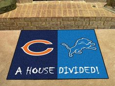 "NFL - Bears - Lions House Divided Rug 33.75""x42.5"""