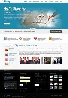 Binary options website template