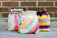 Striped Drawstring Bags by Jeni Baker-mini tutorial