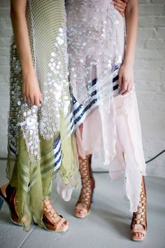 Rodarte Spring 2015 Backstage. Photo by Kevin Tachman. <3 LOVE