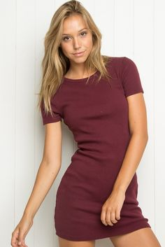 c770d1056e2d Brandy Melville Burgundy Jenelle Dress such a cute t shirt dress! brand new  with tags Brandy Melville Dresses