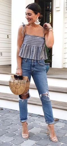 0326de578361 10 Family Cookout Outfit Ideas Perfect For A Hot Day · Casual Night  OutfitsSummer ...