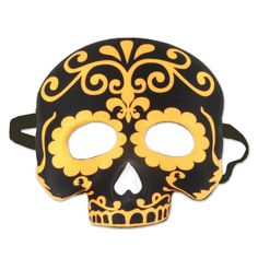 Beistle Day of the Dead Half Mask (6ct)