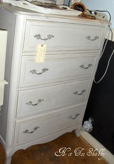 Dresser - french style painted with ASCP Country Grey & Old White