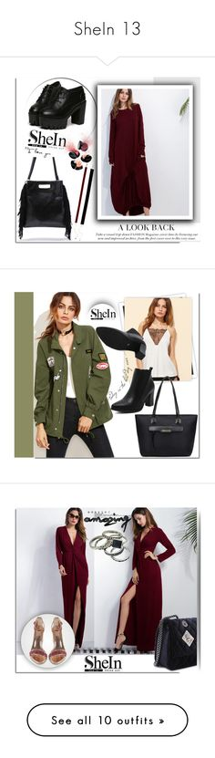 """""""SheIn 13"""" by melissa995 ❤ liked on Polyvore featuring Smashbox, GALA, vintage, WithChic, Burberry, Urban Decay and Bulgari"""