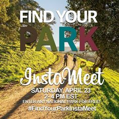 YOURE INVITED! Join us on Saturday April 23 from 2-4pm ET for the #FindYourParkInstaMeet at any#NationalParkacross the country to celebrate#NationalParkWeek!   FromApril 16-24 all parks are FEE FREE so all you need to bring is yourself your friends and your phones to participate in the #FindYourParkInstameet!    Check with your favorite park for information on special Ranger-led programs and other events or plan your own gathering! nps.gov/npweek  #InstaMeet NPS/Bhoj Rai @AnzaTrailNPS by…