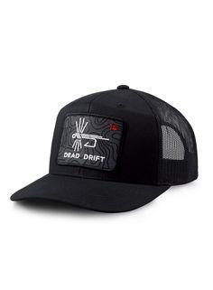 1deef07156da05 Dead Drift Fly Topo Logo Trucker — Dead Drift Fly Fishing Hats, Hat Patches,
