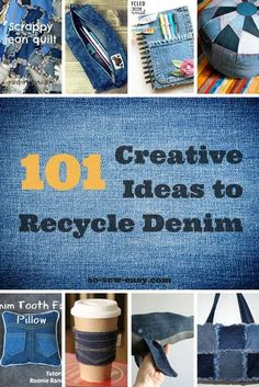 101 Creative Ideas to Recycle Denim Jeans - https://sewing4free.com/101-creative-ideas-recycle-denim-jeans/