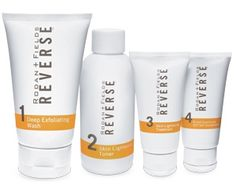 Reverse product line from Rodan and Fields.  transforms dull, sun damaged skin with dark spots to glowing, radiant skin.  My favorite skin care routine ever! www.avanna.myrandf.com