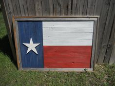 Large Rustic Wood Texas Flag Distressed Reclaimed by LoneStarWood, $175.00