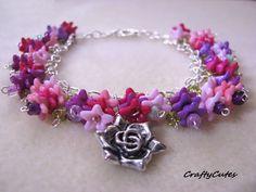 Celtic Knot Flower Charm Bracelet