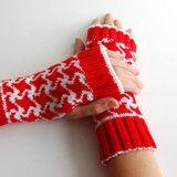 Hounds Tooth Fingerless Gloves