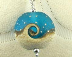 Ocean Wave Lampwork Bead Necklace