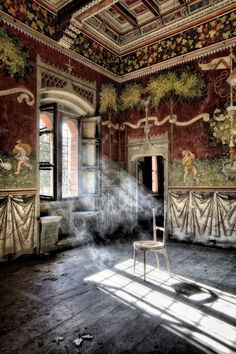 An abandoned castle in Italy. -- my Aunt may have had a home like this, before the war forced them to move.