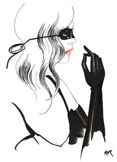 Leather up fashion illustration