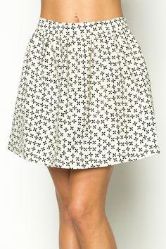 Printed Zip Back Skirt