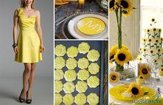 Pink Swan Events - Yellow wedding inspiration (www.PinkSwanEvents.com)