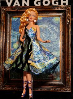 Famous Painting Barbie...I think they overdid the cypress trees, and she should have had an ear cut off. Cute though.
