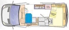 Reisemobil RONDO Übersichtsskizze