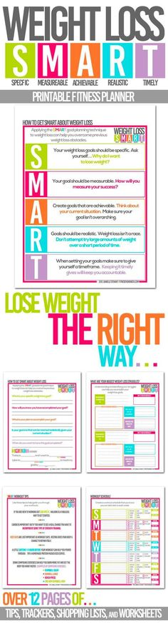 Weight loss the SMART way is all about creating very specific yet realistic goals.   SMART is a goal planning strategy used in classrooms that I though would be perfect for also reaching weight loss goals.