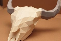 Bison Skull Papercraft V2 by Gedelgo on DeviantArt