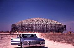 Here is Houston Astrodome under construction, early although here it looks like a scene from Breaking Bad! Houston Oilers, Houston Tx, Baseball Park, Baseball Field, Loving Texas, Texas Pride, Texas History, Local History, Galveston