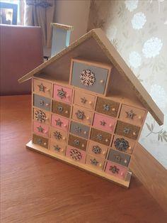 Christmas Wooden Advent Calendar #hobbycraft #crafty #wood