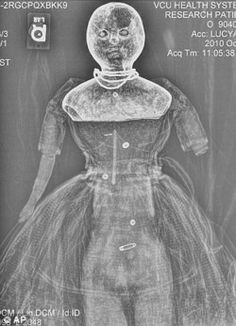 slabbb-blockkk-hilarious:  Two 150-year-old dolls have been x-rayed in a bid to discover if they were used by Confederate soldiers to smuggle medical supplies past Union blockades during the U.S. Civil War. It is thought the large dolls – Nina and Lucy Ann – had their hollowed out papier-mache heads stuffed with quinine or morphine for wounded and malaria-stricken Confederate troops.