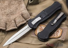 IN STOCK at KnivesShipFree Benchmade Knives: 3300 Infidel - OTF Auto Made in the United States of America and available at KnivesShipFree. Swiss Army Pocket Knife, Best Pocket Knife, Benchmade Knives, Tactical Knives, Tactical Gear, Tactical Survival, Tactical Pocket Knife, Knife Holster, Pocket Knives