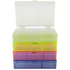 <div><div>Store jewelry-making supplies, craft supplies, scrapbook materials and more in this ro...