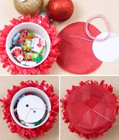 DIY Pull-string Piñata Cups for parties or Advent  {Confetti Sunshine}
