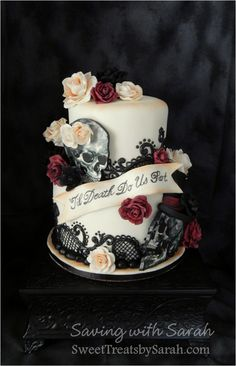 Gothic Wedding Cake 'Til Death Do Us Part
