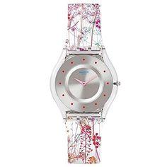 Swatch Girl s SFE102 Classic Jardin Fleuri Swiss Quartz Watch b264da9707