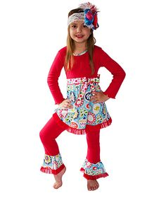 Inspiration - Red & Blue Tunic & Pants - Infant, Toddler & Girls