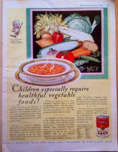 Vintage Campbell's Soup Advertisement  Ad from 1929